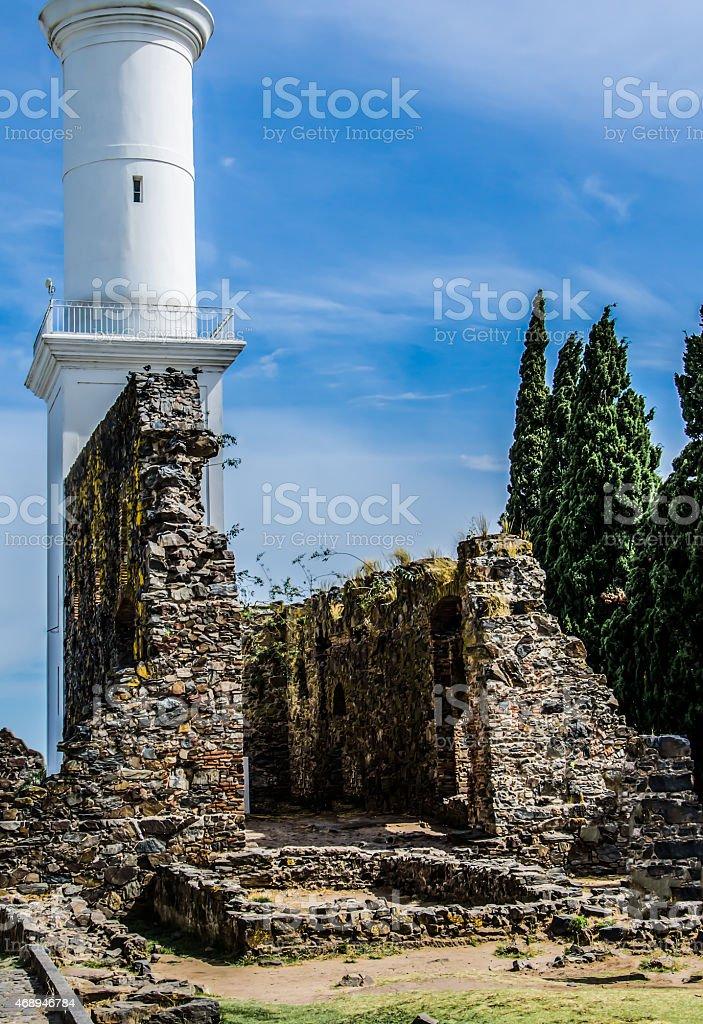Lighthouse in Colonia Del Sacramento stock photo