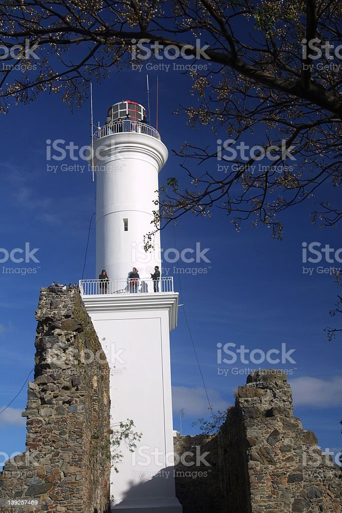 Lighthouse in Colonia del Sacramento, Uruguay royalty-free stock photo