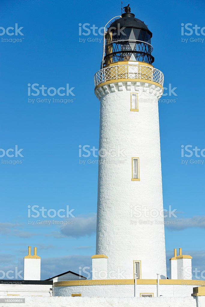 Lighthouse in Dumfries and Galloway, Scotland stock photo