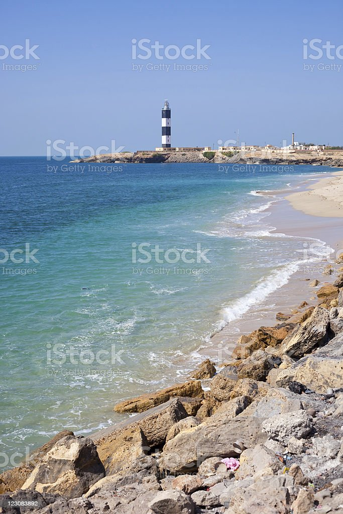 Lighthouse In Dwarka, India stock photo