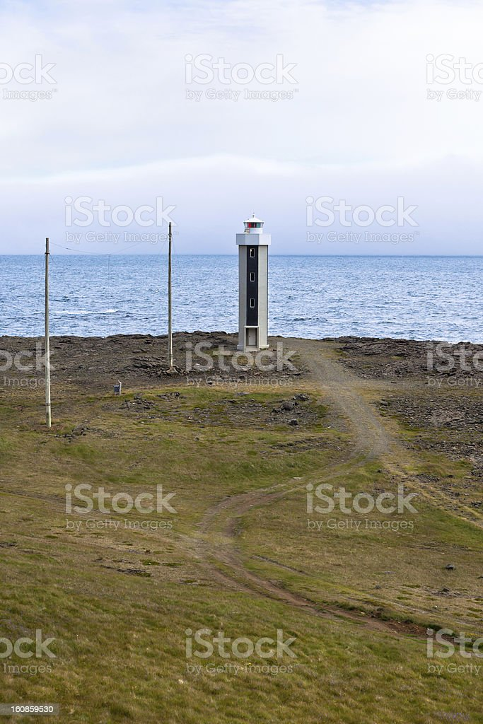 Lighthouse in East Iceland royalty-free stock photo