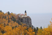 Lighthouse in fall colors