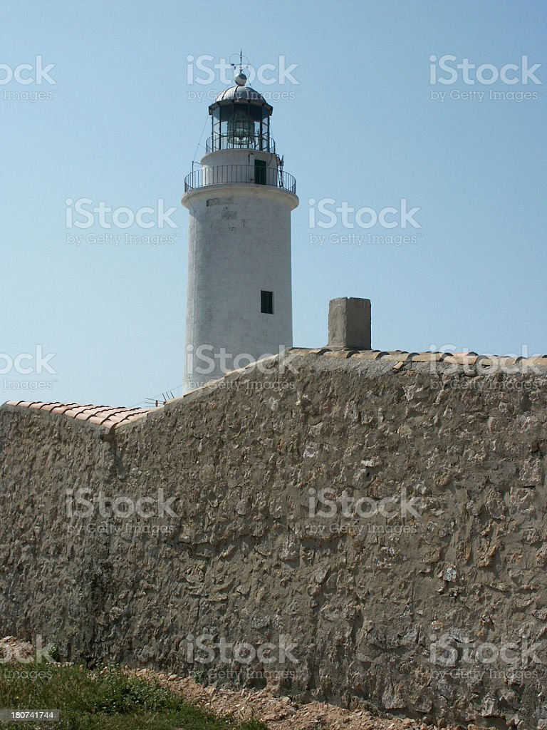Lighthouse in Formentera royalty-free stock photo