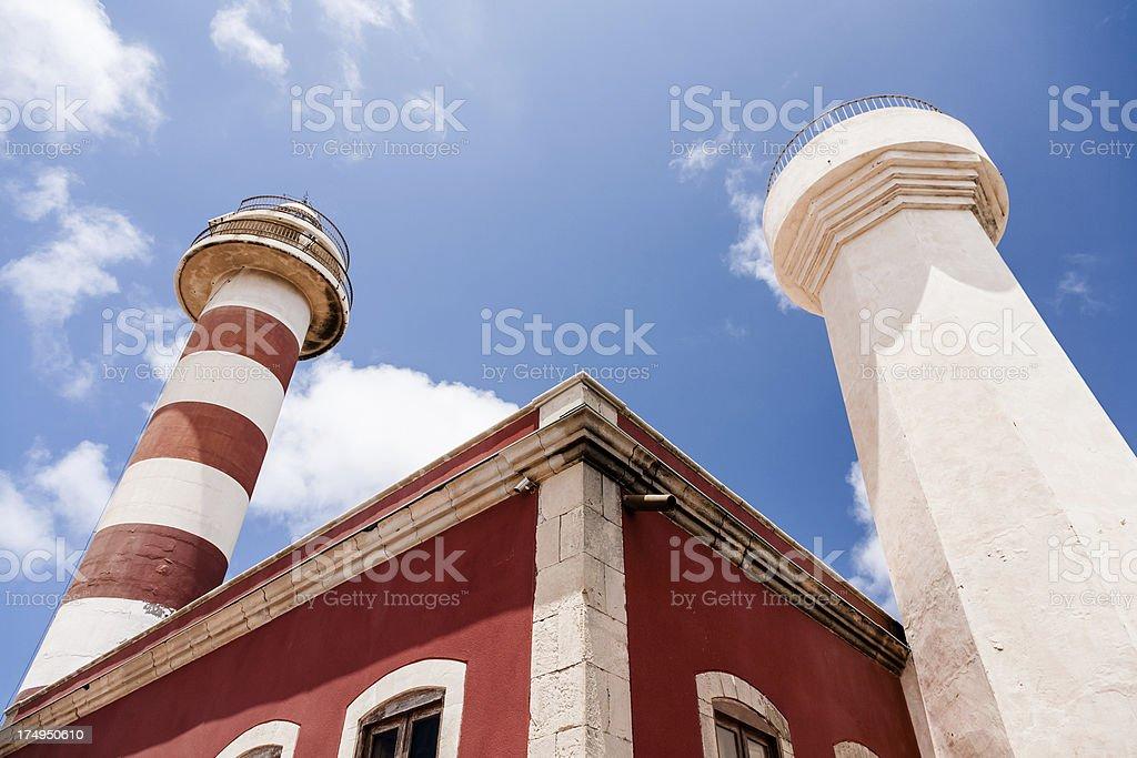 Lighthouse in Fuerteventura stock photo