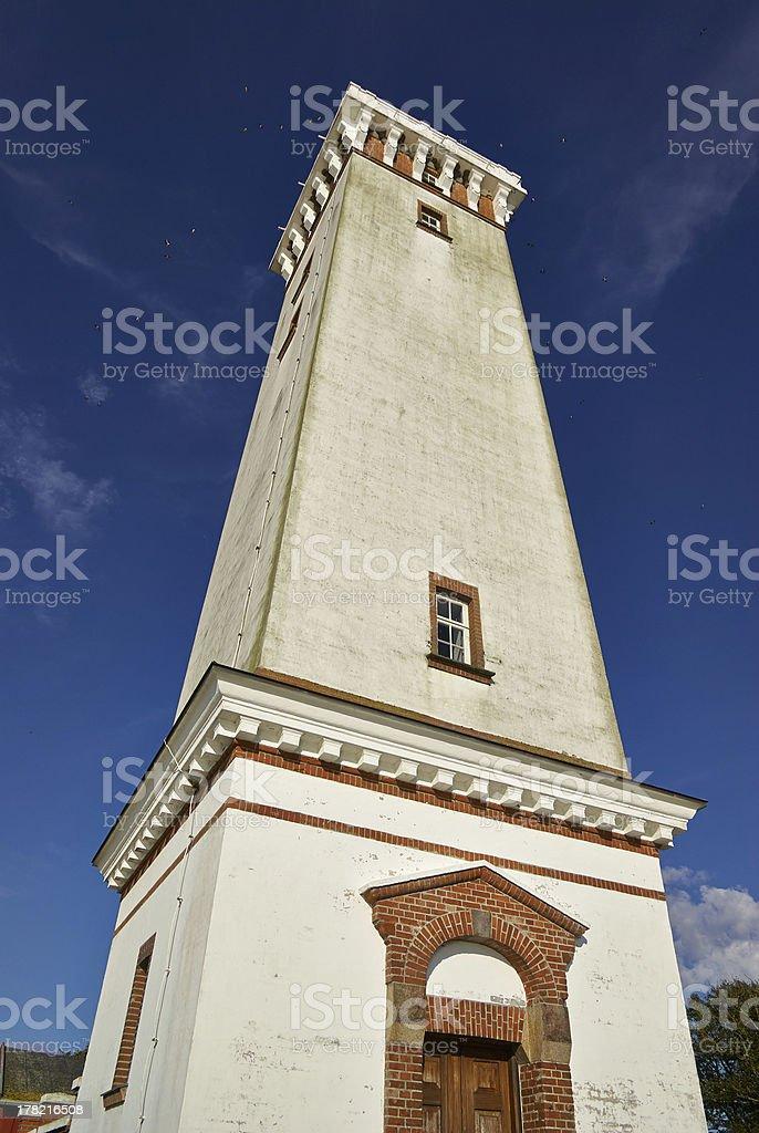Lighthouse in Helnaes Denmark stock photo