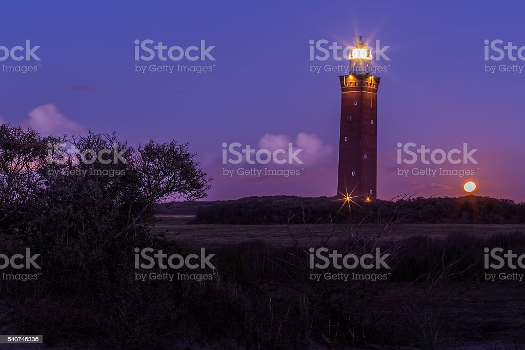 Lighthouse in Holland stock photo