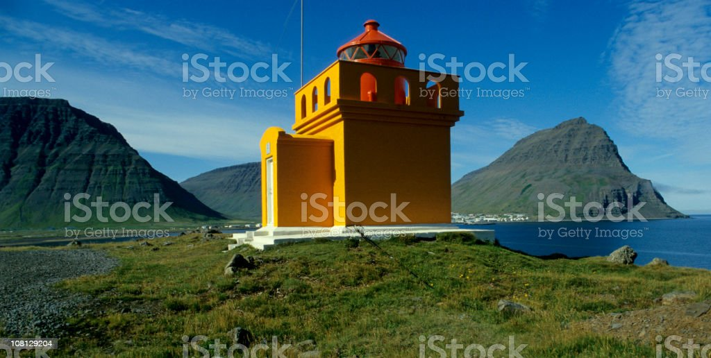 lighthouse in Iceland royalty-free stock photo