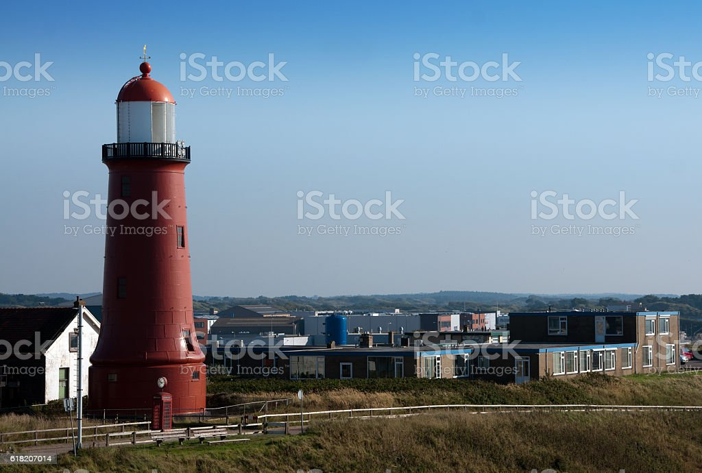 Lighthouse in IJmuiden stock photo