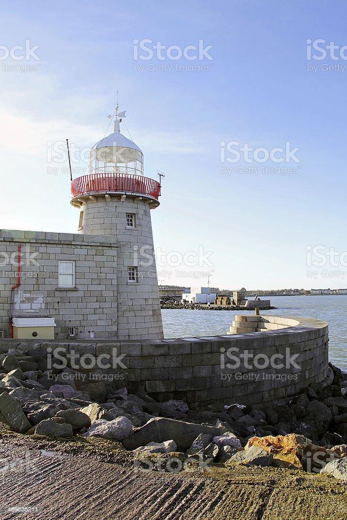 Lighthouse in Ireland stock photo