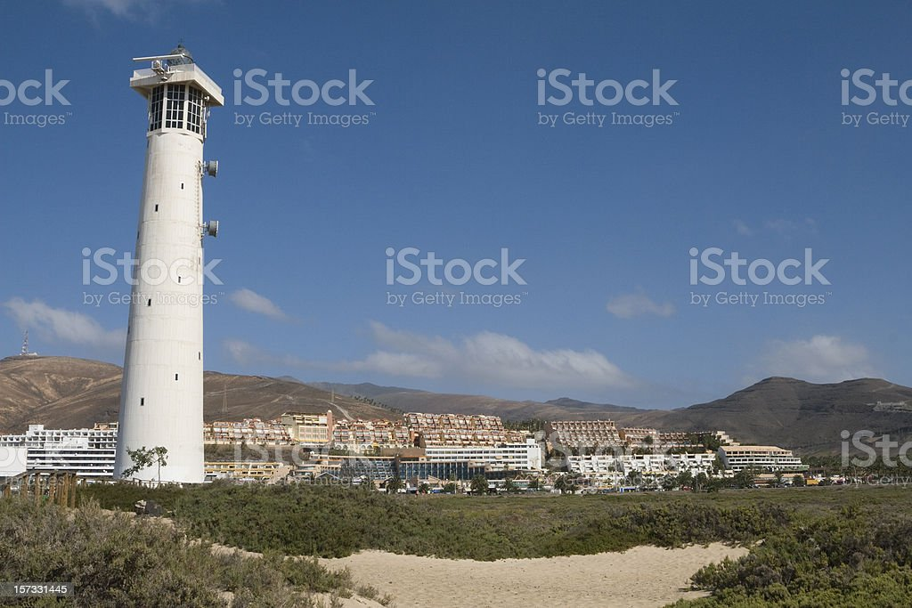 Lighthouse in Jandia, Fuerteventura, Canary Islands stock photo