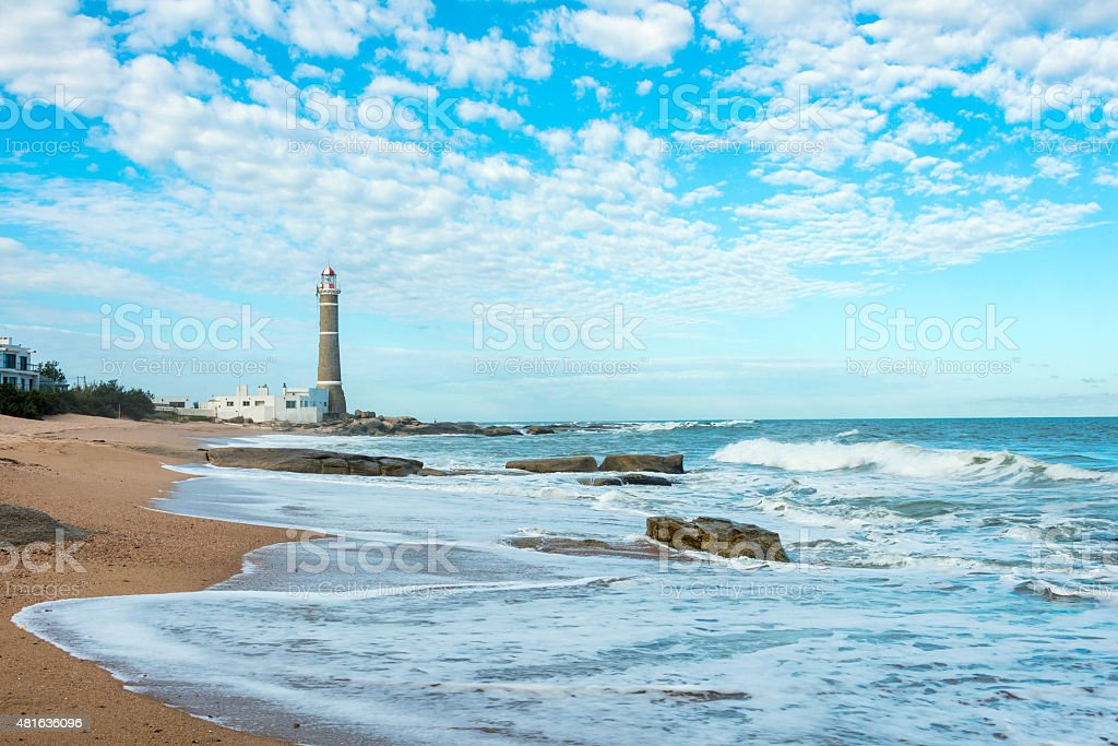 Lighthouse in Jose Ignacio near Punta del Este, Uruguay stock photo