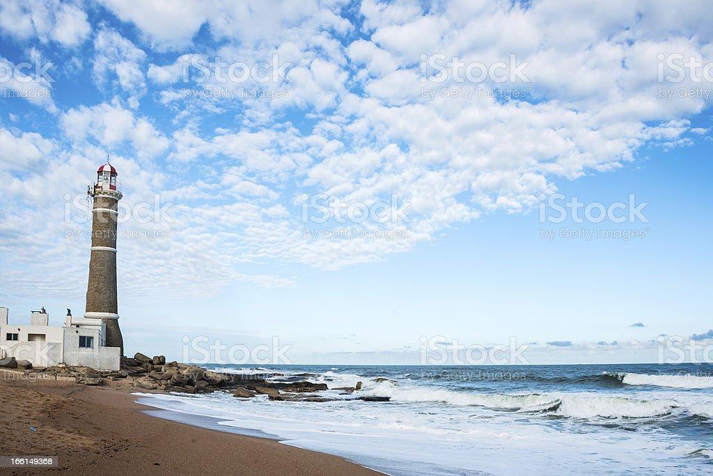 Lighthouse in Jose Ignacio, Uruguay royalty-free stock photo