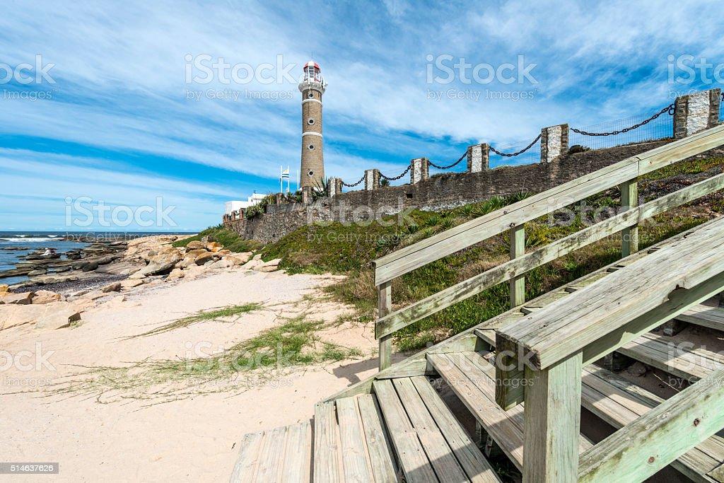 Lighthouse in Jose Ignacio, Uruguay stock photo