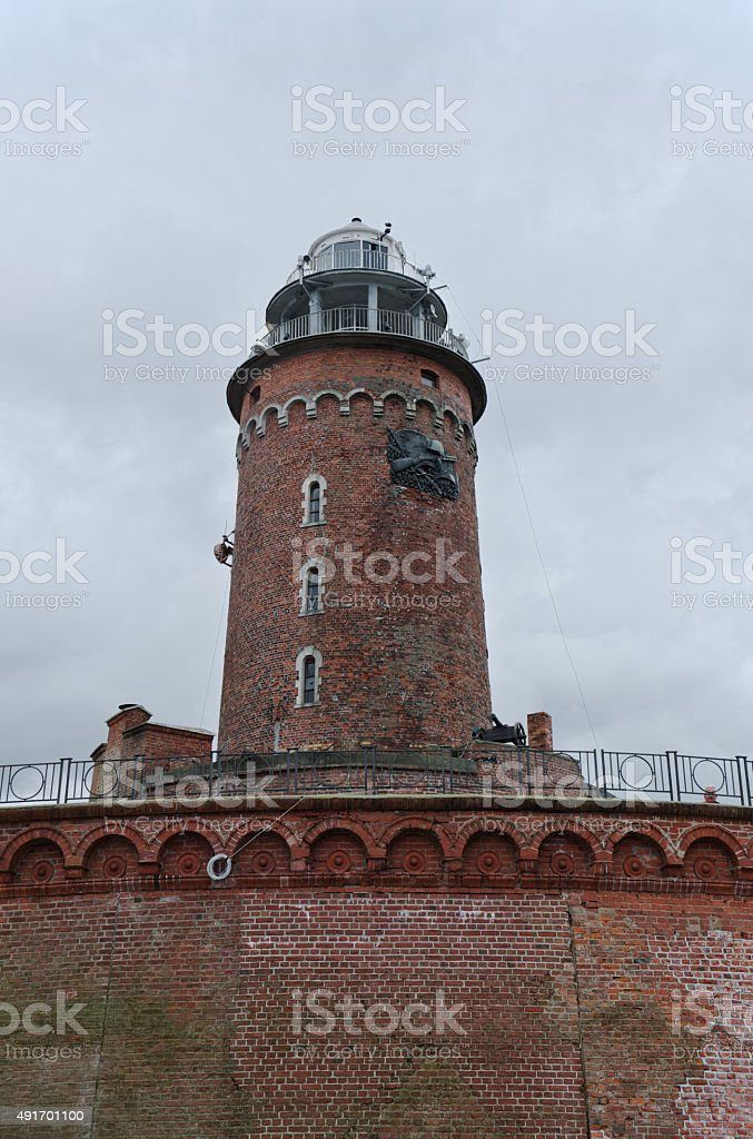 Lighthouse in Kolobrzeg, Poland. stock photo
