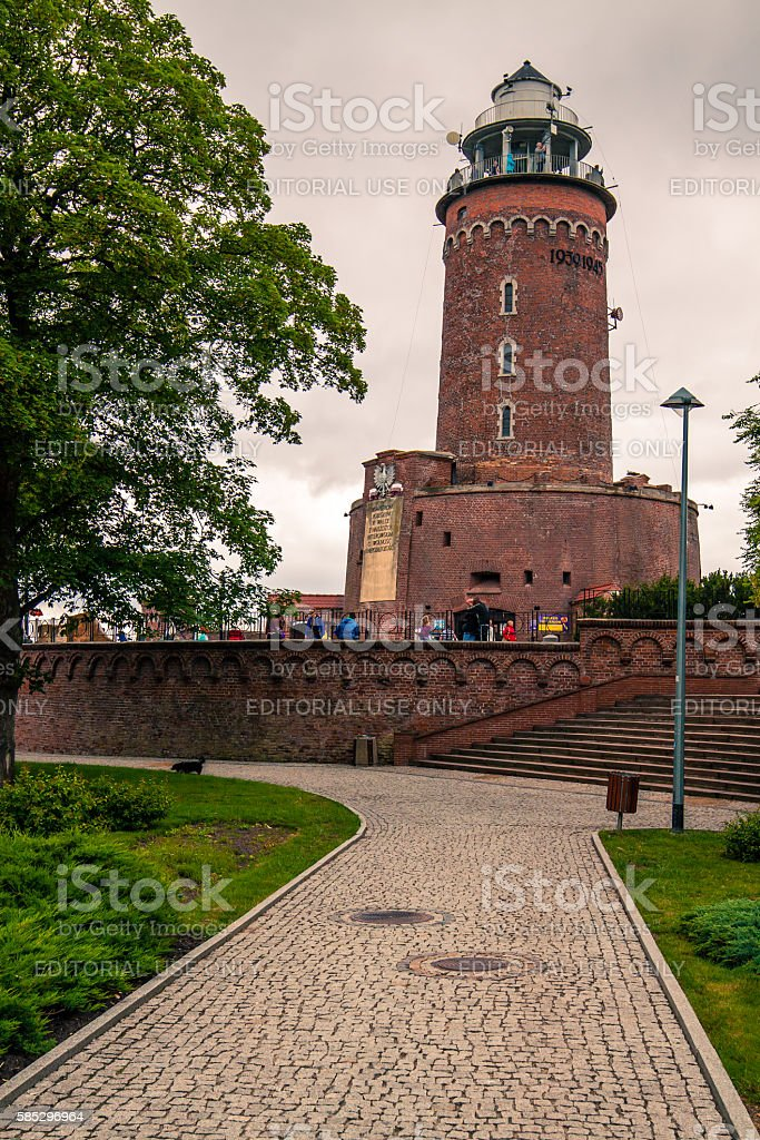 Kolobrzeg, Poland - June 21, 2016: Lighthouse in Kolobrzeg, Poland. stock photo