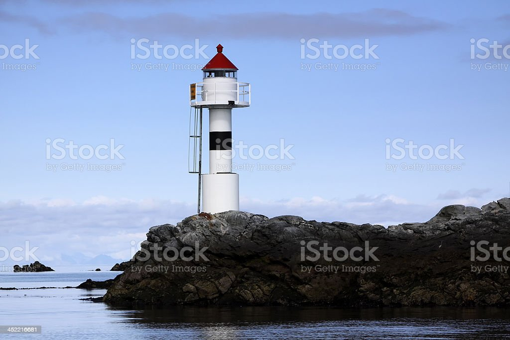 Lighthouse in Lofoten royalty-free stock photo