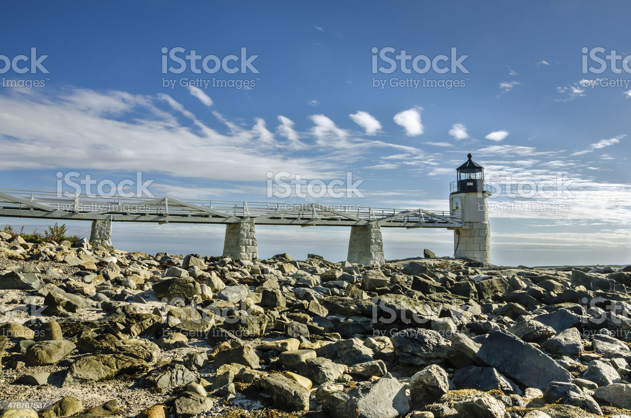 Lighthouse in Maine royalty-free stock photo