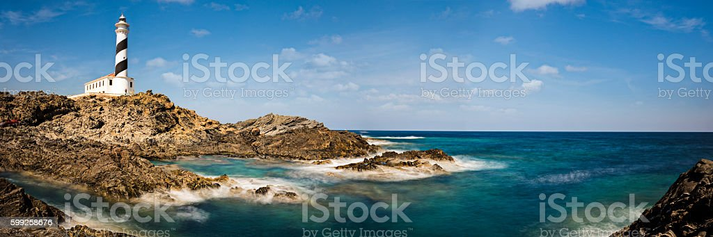 Lighthouse in Menorca stock photo