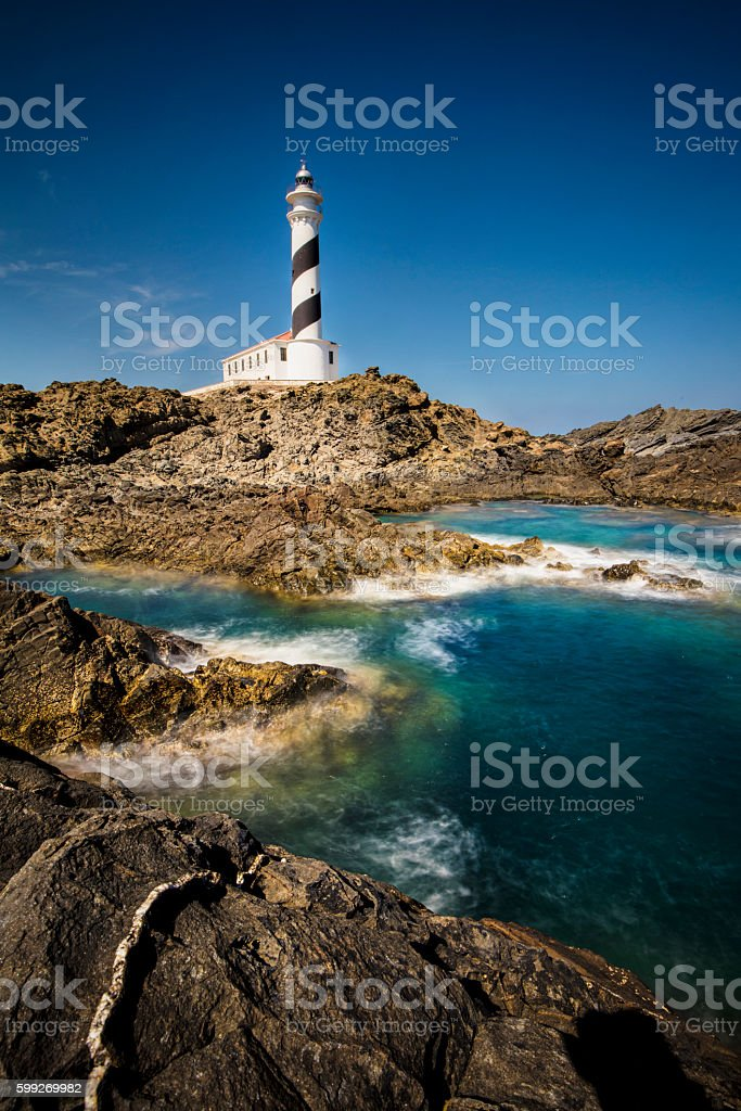 Lighthouse in Menorca stock photo