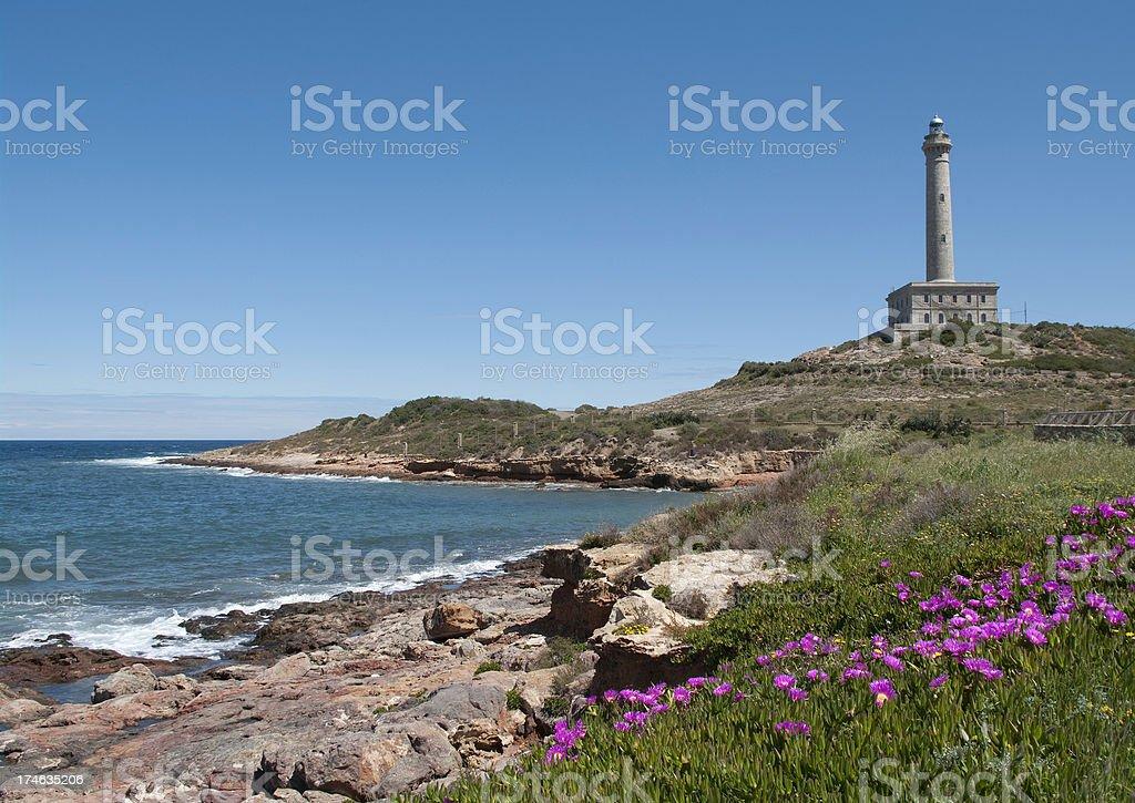Lighthouse in Murcia Spain. Faro Cabo de Palos stock photo stock photo