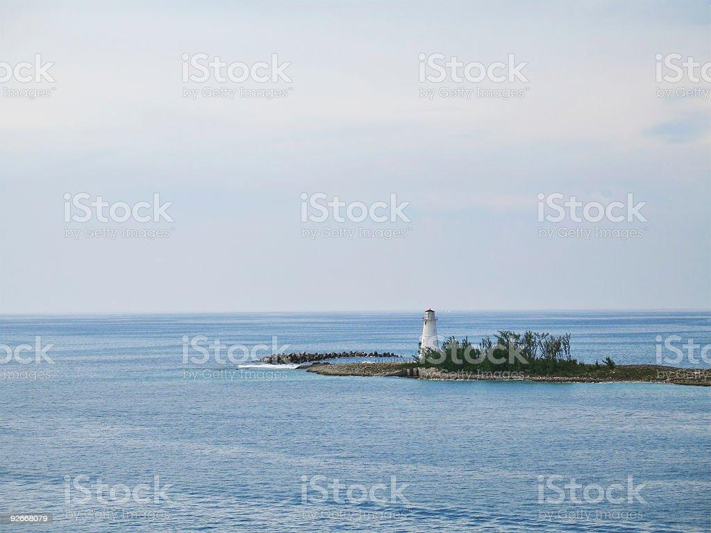 Lighthouse in Nassau, Bahamas royalty-free stock photo