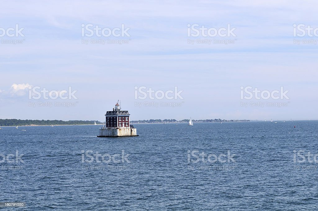 Lighthouse in Newport, Rhode Island. royalty-free stock photo