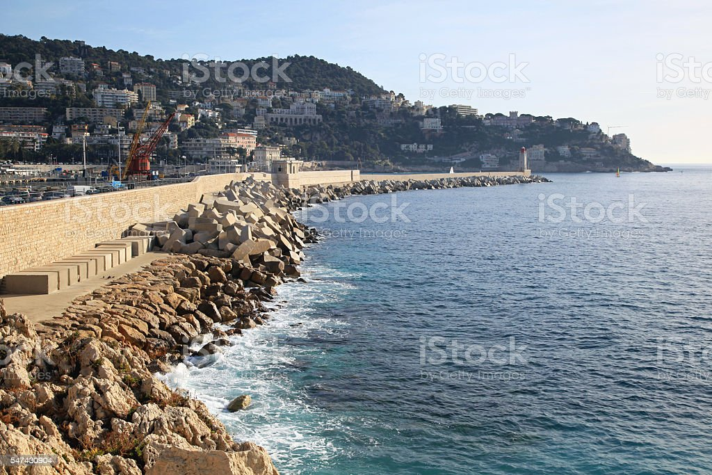 Lighthouse in Nice stock photo