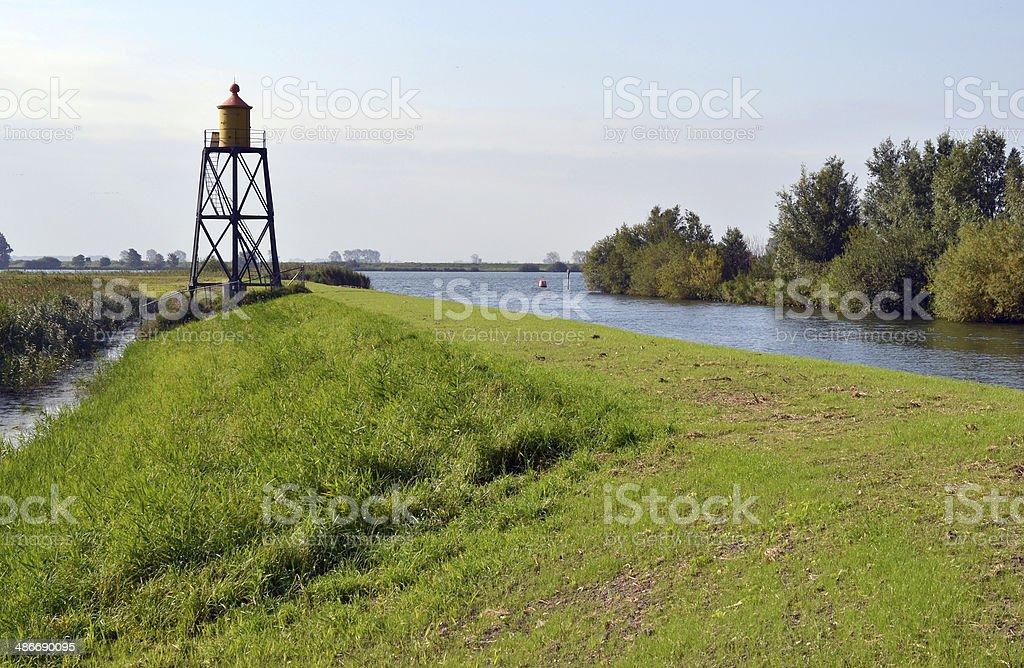 の灯台 Niewendijk ます。 ロイヤリティフリーストックフォト