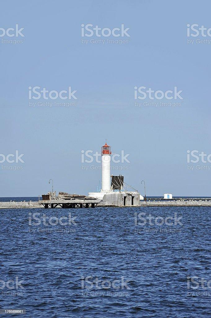 Lighthouse in Odessa, Ukraine royalty-free stock photo