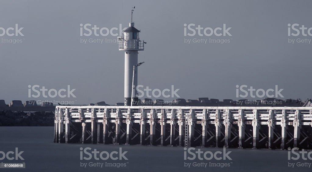 Lighthouse in Ostende,Belgium stock photo