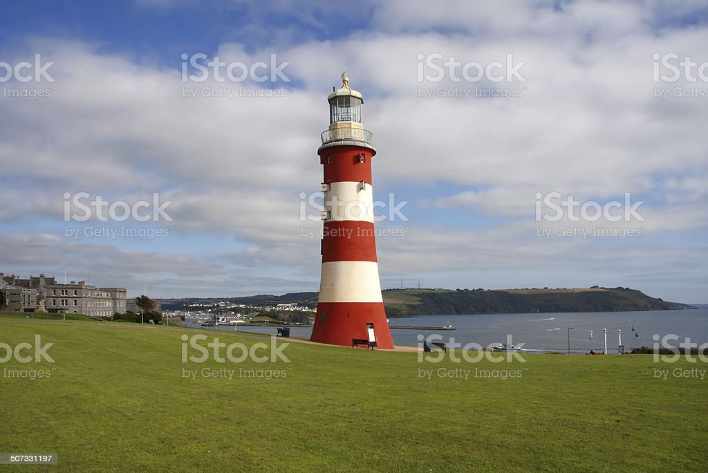 Lighthouse in Plymouth, Devon,  UK stock photo
