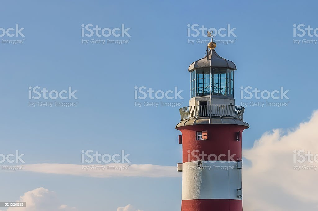 Lighthouse in Plymouth stock photo