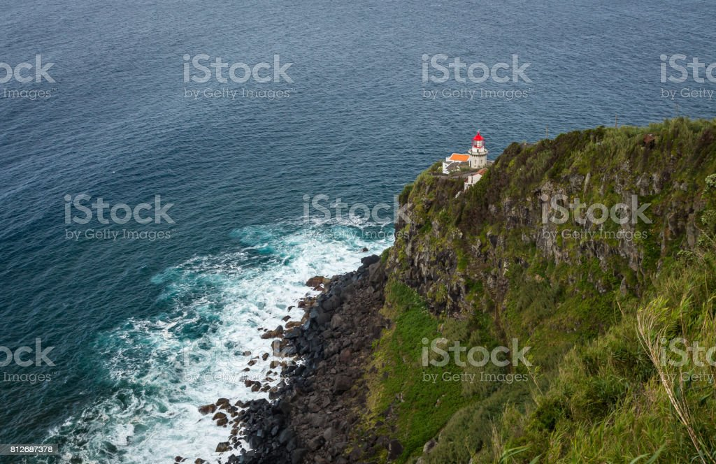 Lighthouse in Povoacao stock photo