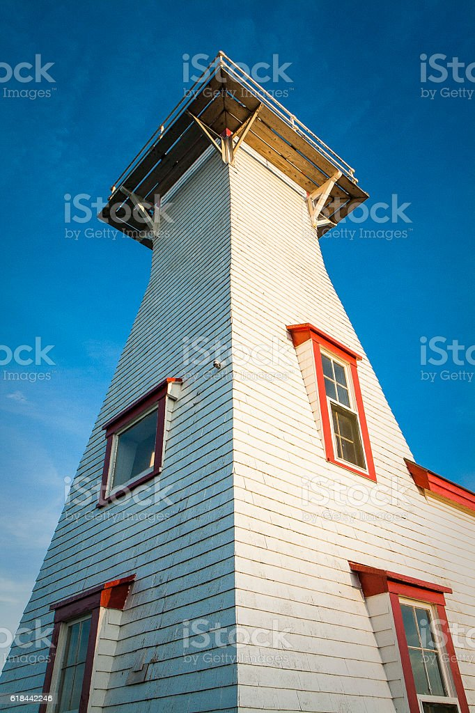 Lighthouse in Prince Edward Island, Canada stock photo