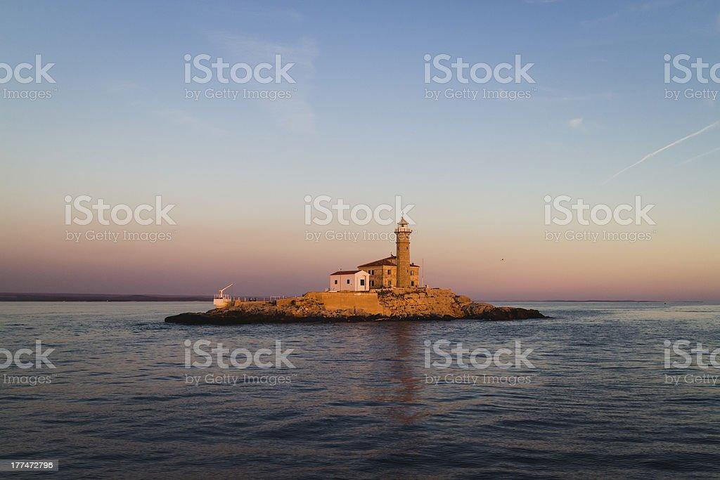 Lighthouse in Rovinj, Croatia royalty-free stock photo