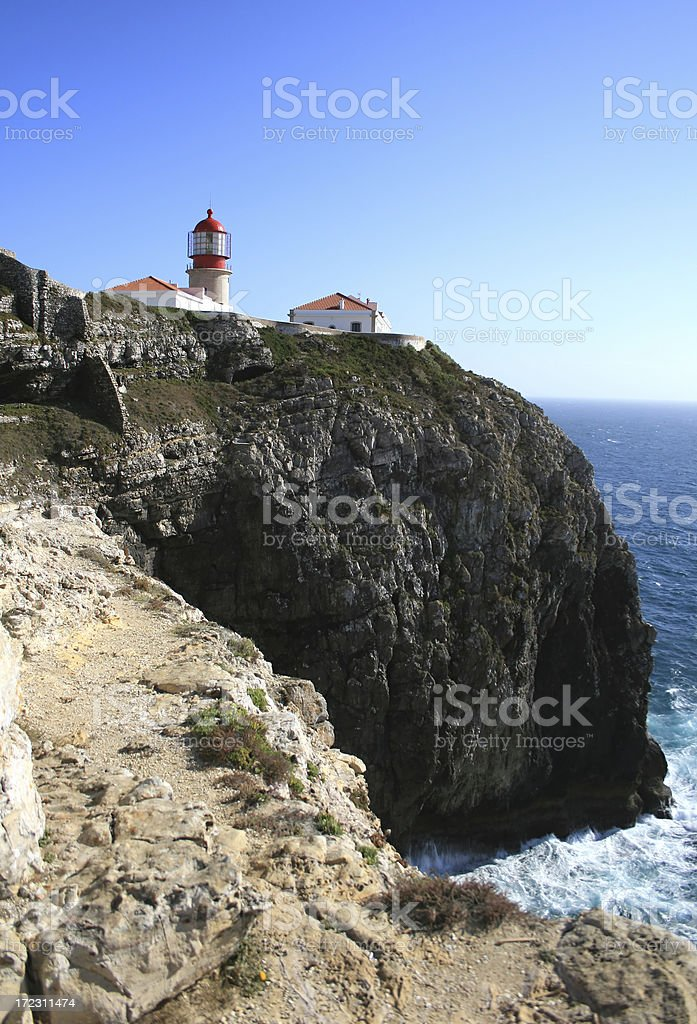 Lighthouse in Sagres stock photo