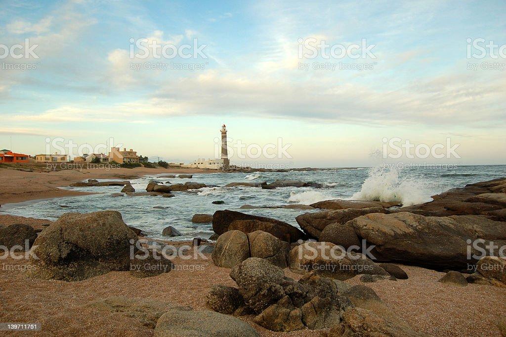 Lighthouse in San Ignacio royalty-free stock photo