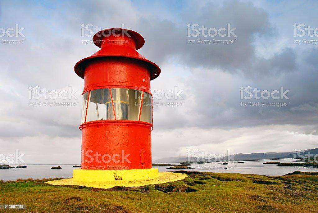 Lighthouse in Stykkisholmur,Snaefellsnes Peninsula,Iceland stock photo