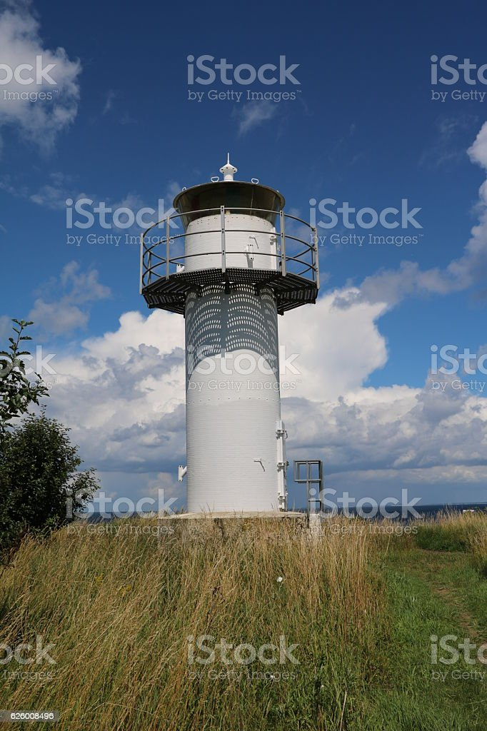 Lighthouse in summer in Malmö, Sweden stock photo