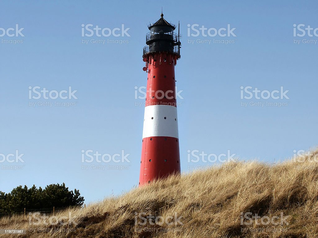 Lighthouse in Sylt royalty-free stock photo