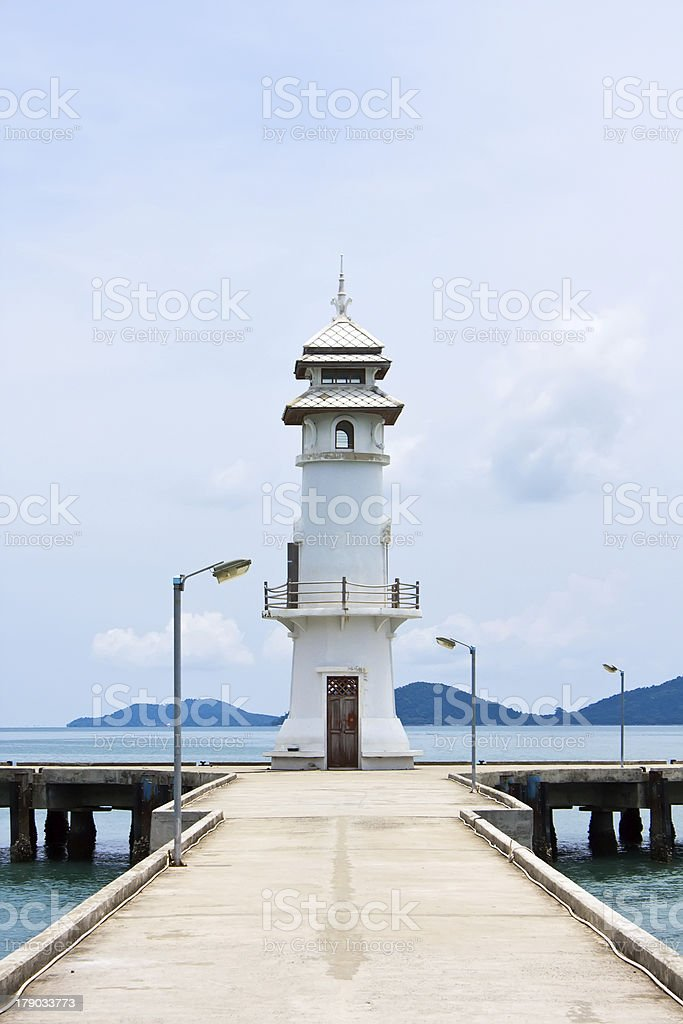 Lighthouse in Thailand royalty-free stock photo