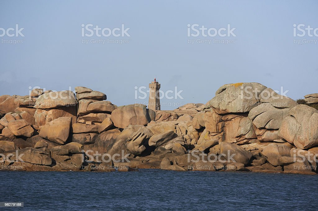 Lighthouse in the Bretagne royalty-free stock photo