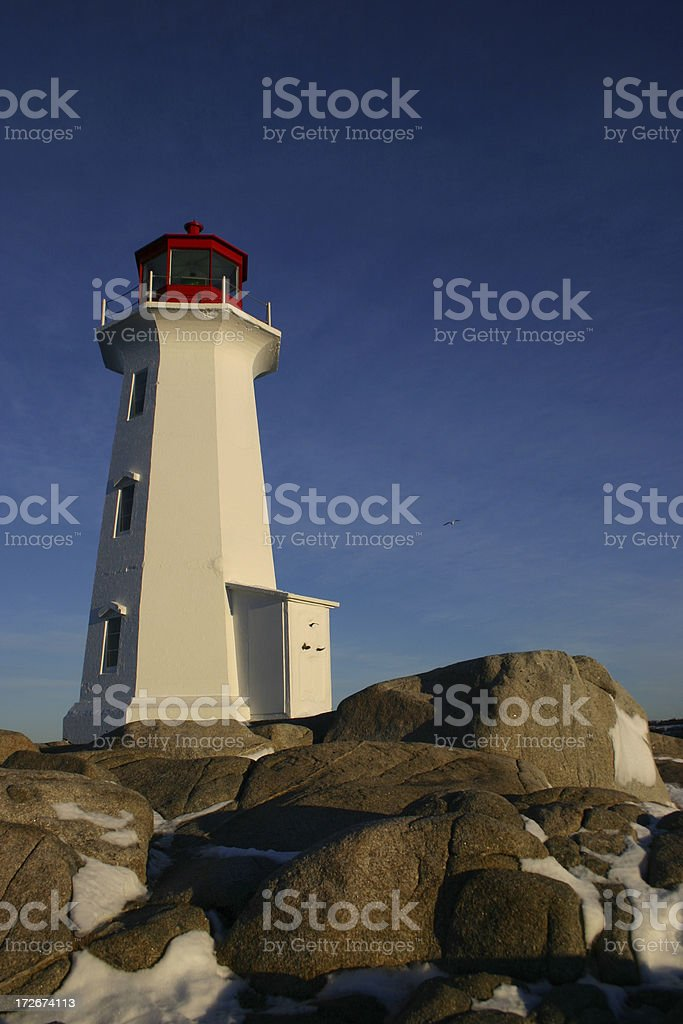 Lighthouse in the Morning royalty-free stock photo