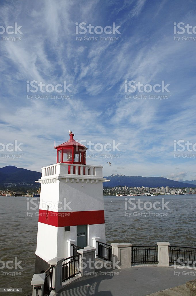 Lighthouse in Vancouver royalty-free stock photo