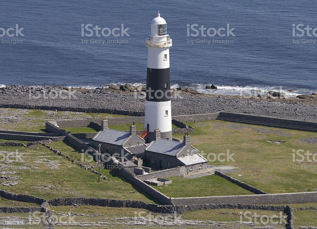 Phare, Inis Mor, Îles d'Aran, en Irlande photo libre de droits