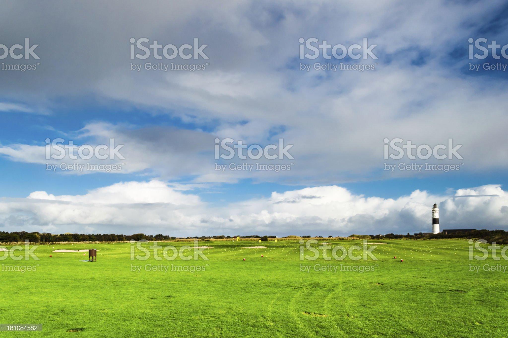 Lighthouse Kampen Golf Club royalty-free stock photo