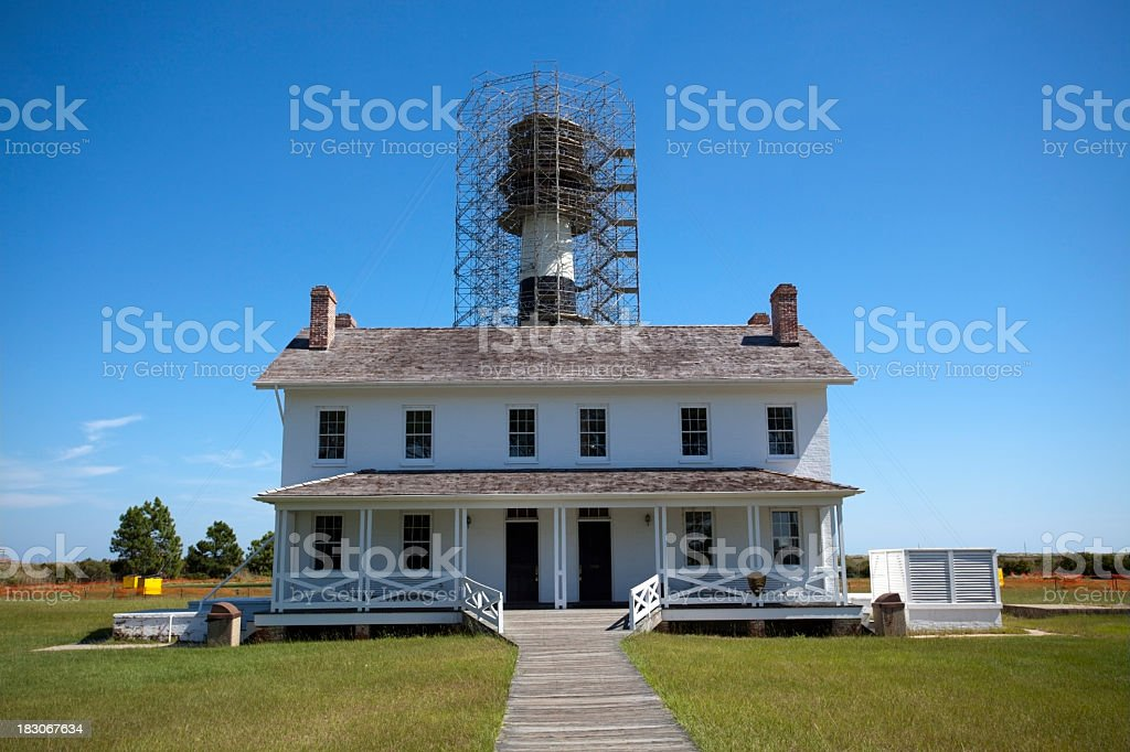 Lighthouse Keeper's House stock photo