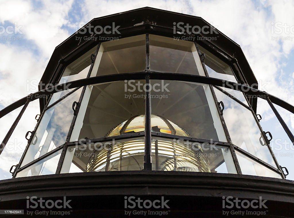 Faro di Fresnel camera con lampada lente foto stock royalty-free
