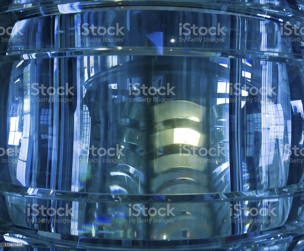 Lighthouse Lens stock photo
