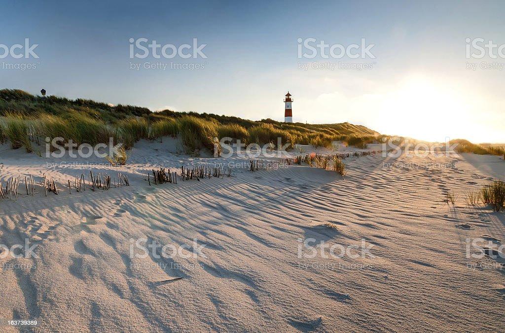 Lighthouse List East stock photo